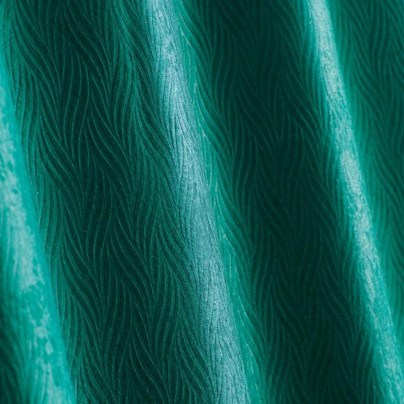 rideau occultant velours shadow 140x240cm vert emeraude