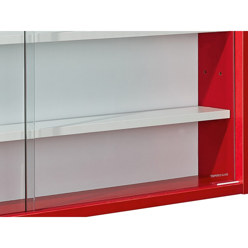 vitrine murale miniatures collection 80cm rouge