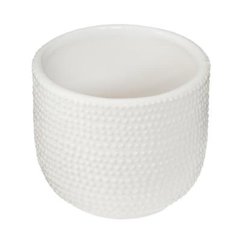 lot de 2 cache pots en ceramique ete 13cm blanc