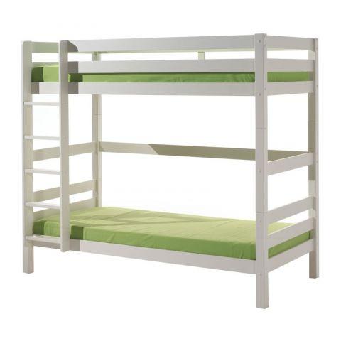 lit enfant superpose haut pino 90x200cm blanc