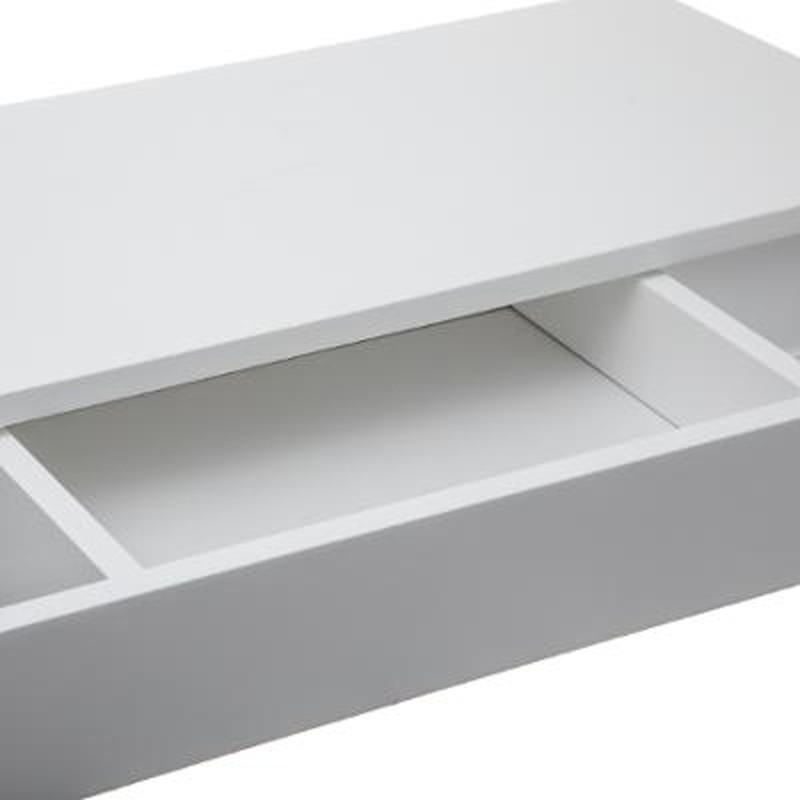 etagere murale avec tiroir softdesign 58cm blanc