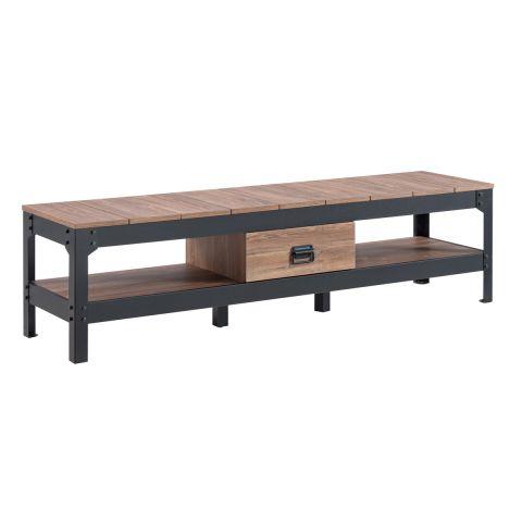 meuble tv industriel logan 151cm naturel