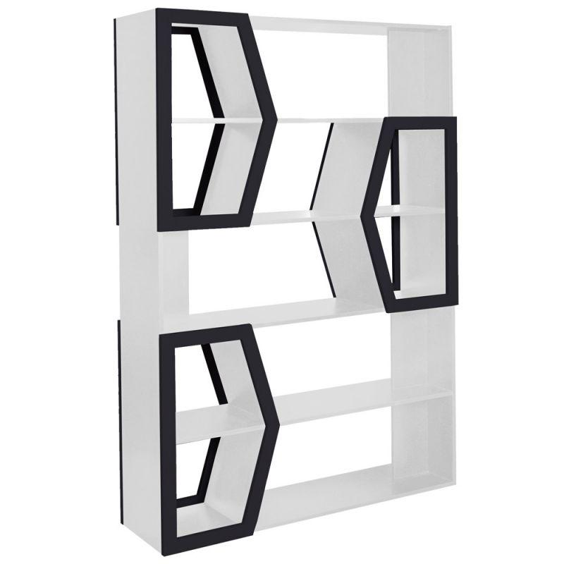 etagere bibliotheque design bocca 176cm blanc