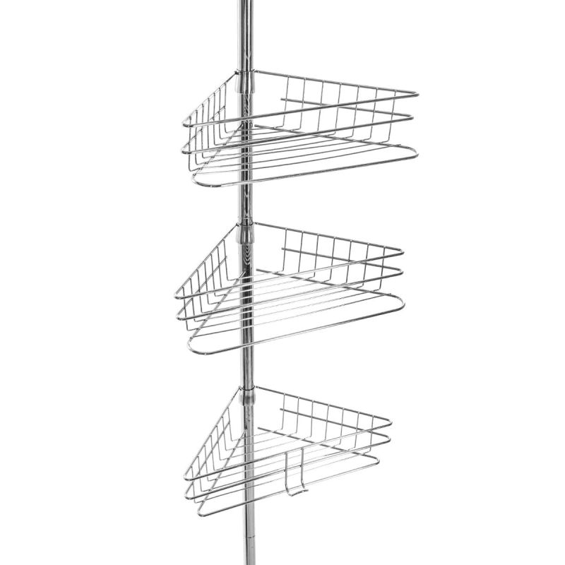 etagere de douche telescopique 135 290cm argent