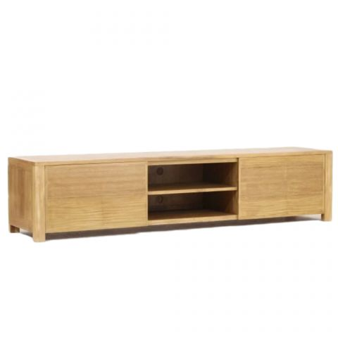 meuble tv en teck massif square 200cm naturel