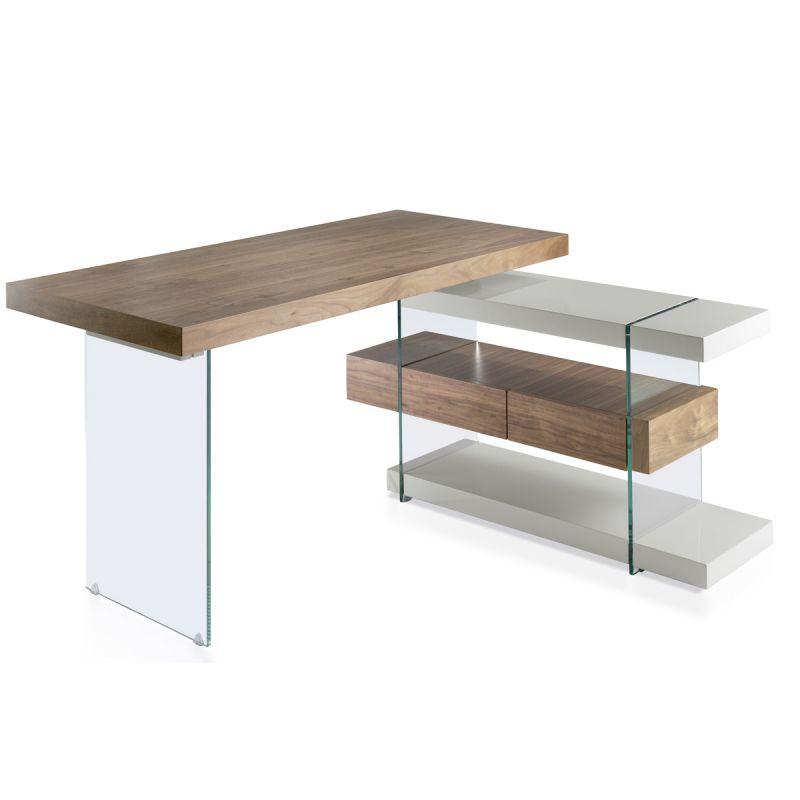 bureau d angle design kira 140cm naturel gris