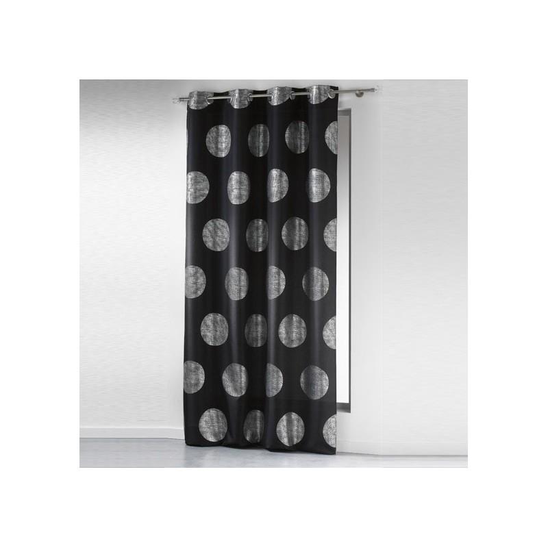 rideau 140x240cm argent platine noir