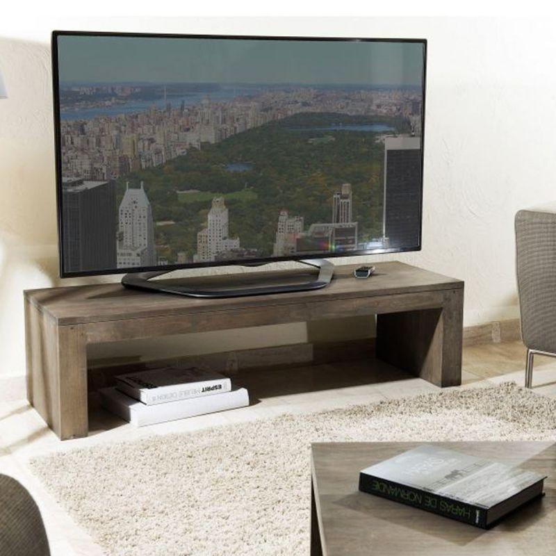 meuble tv design en bois defreyu 135cm naturel