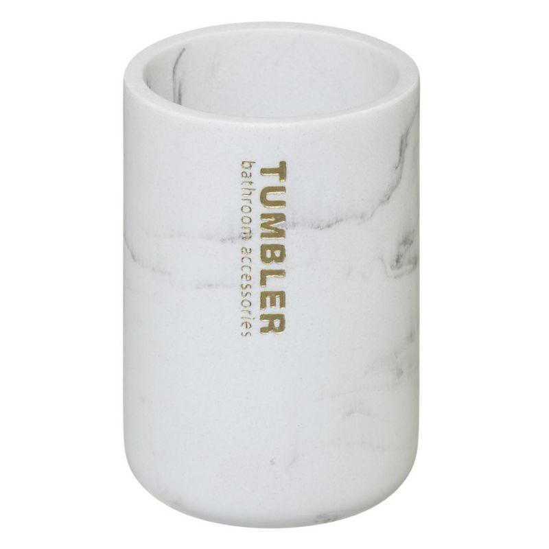 Gobelet Brosse A Dent En Bambou Lea 11cm Blanc
