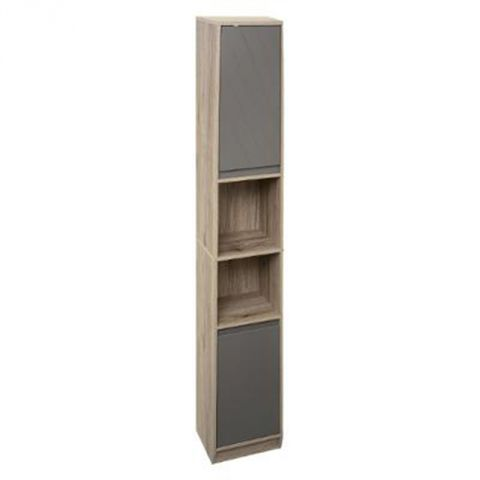colonne salle de bain elda 170cm naturel gris