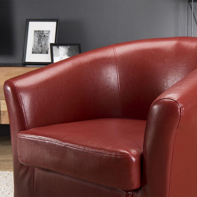 fauteuil cabriolet design marca 72cm rouge