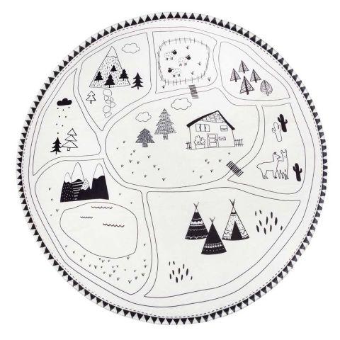https www paris prix com tapis enfant 50257 tapis deco enfant montagne 90cm noir blanc html