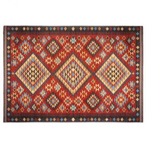 tapis de salon kilim 100x150cm multicolore