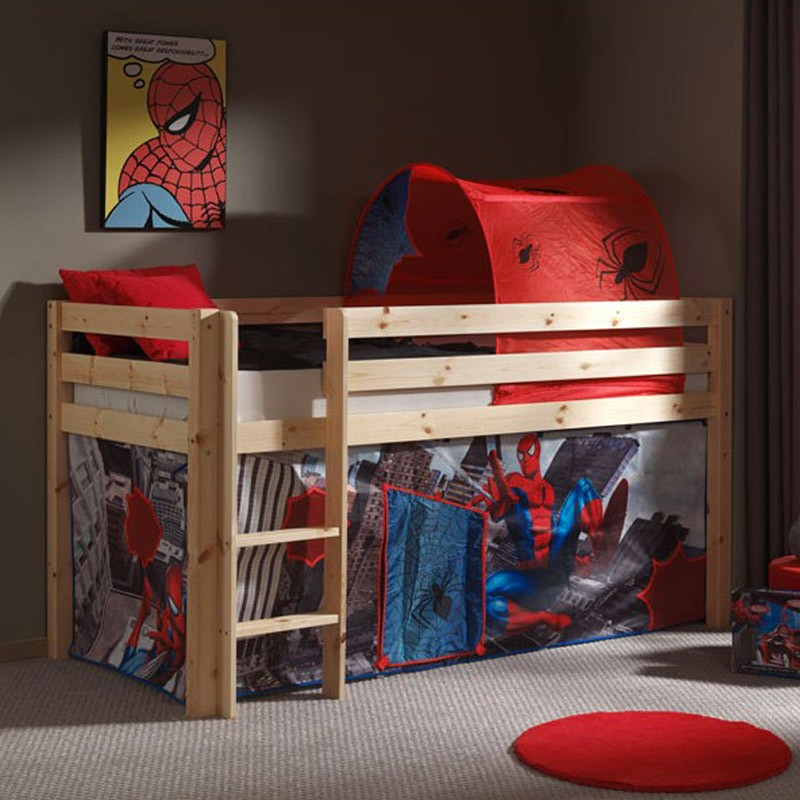 tente tunnel pour lit spiderman