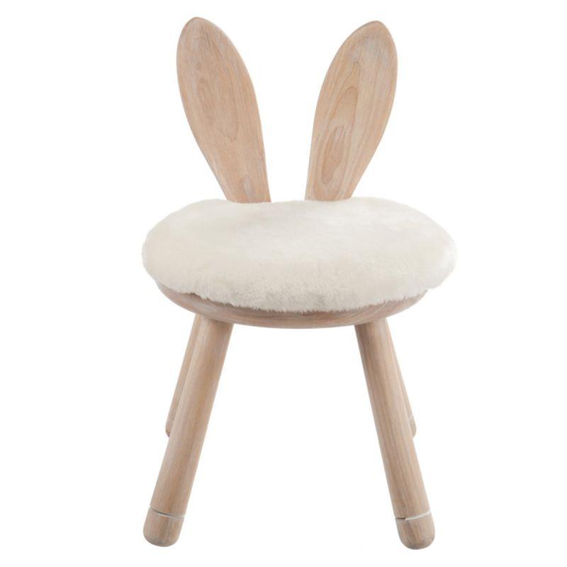 chaise pour enfant oreilles lapin 56cm naturel