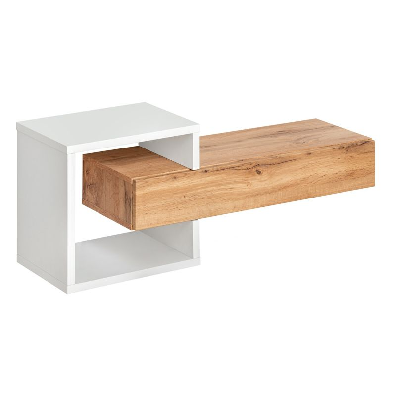 etagere murale tiroir easy 100cm naturel
