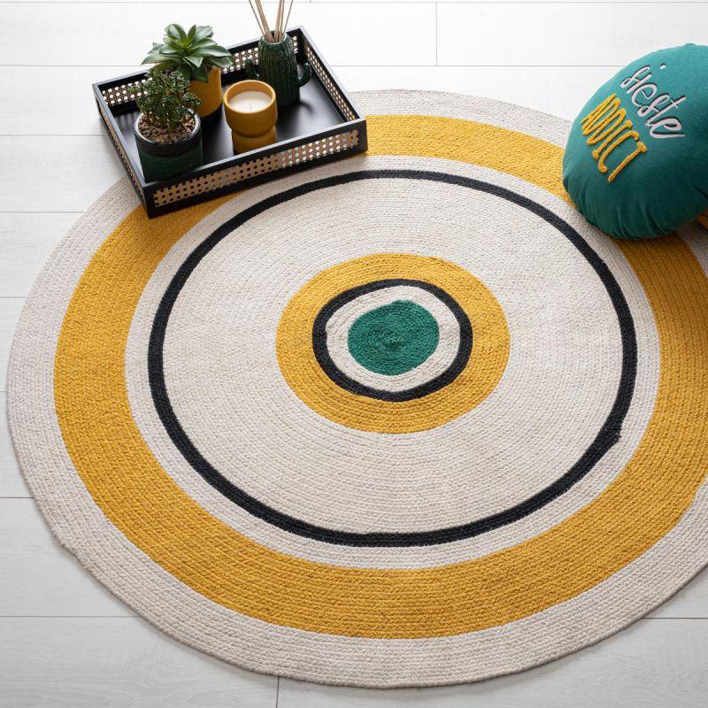 tapis deco rond arty 115cm multicolore
