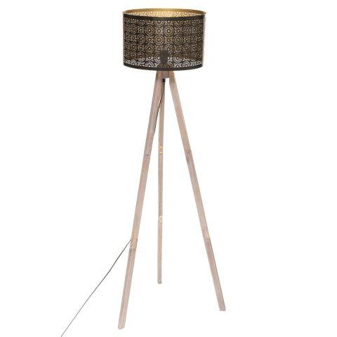 lampadaire trepied design gypsy 155cm noir