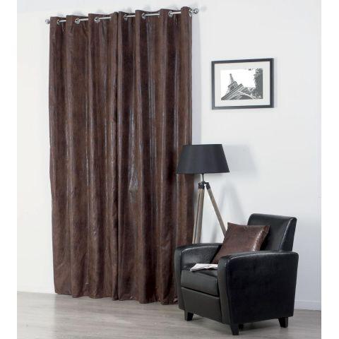 rideau imitation cuir 140x260cm marron