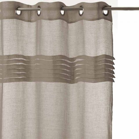 rideau voilage 140x240 taupe