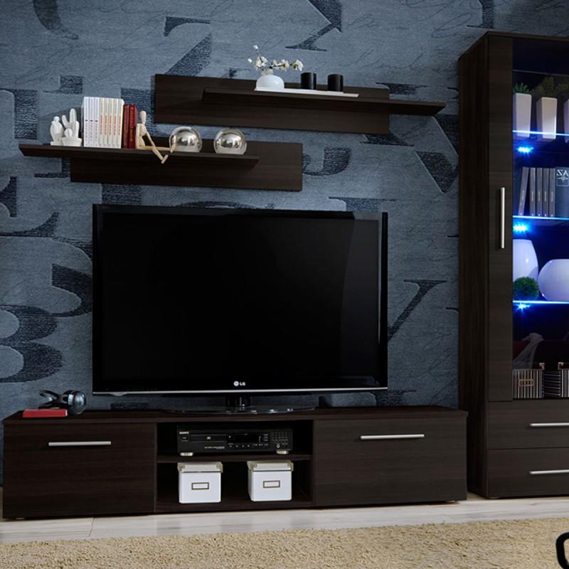 ensemble meuble tv bibliotheque galino iii coffee 320cm wenge