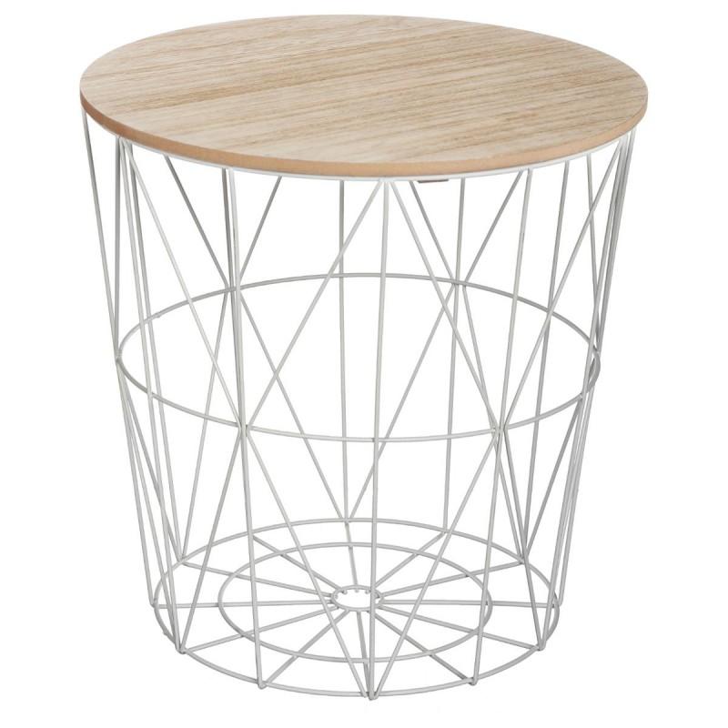table d appoint design kumi 41cm gris