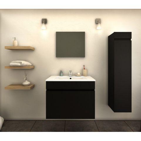 ensemble meuble salle de bain latina 60cm noir mat
