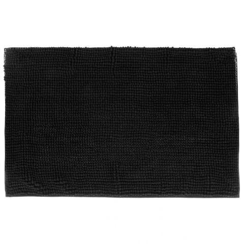 tapis de salle de bain chenille 50x80cm noir