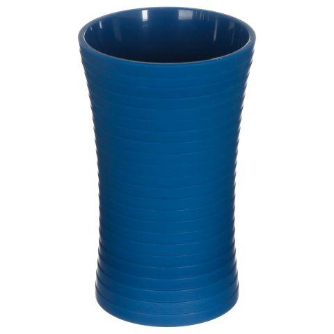 gobelet salle de bain strie 11cm bleu marine