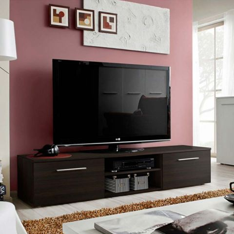 meuble tv design bono ii 180cm wenge