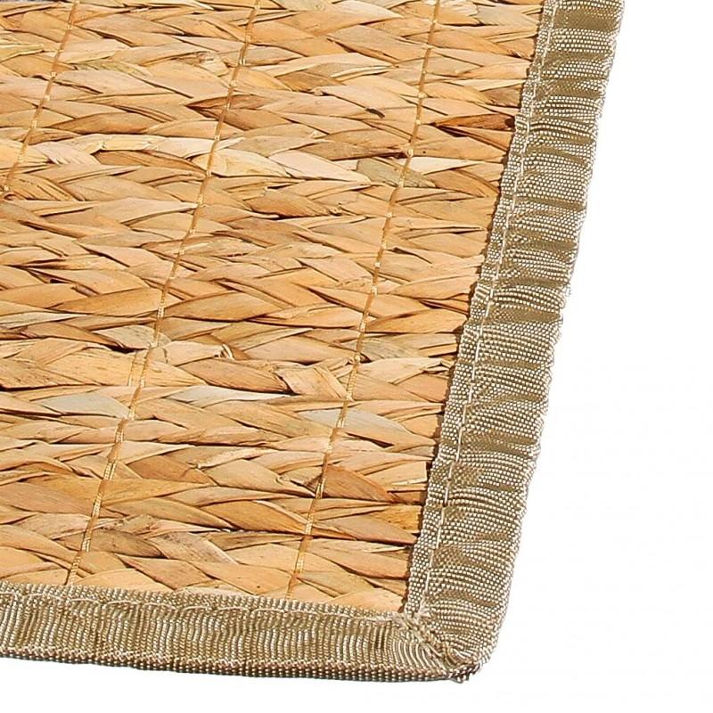 tapis bambou tresse 50x80cm naturel