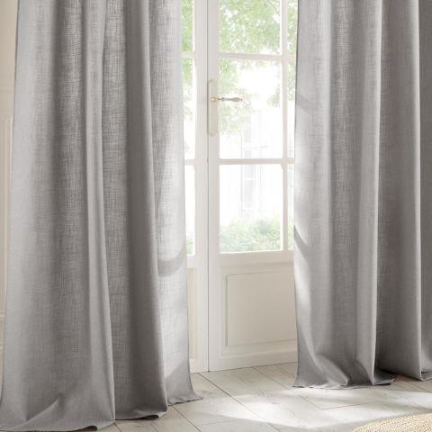 rideau clem 140x260cm gris clair