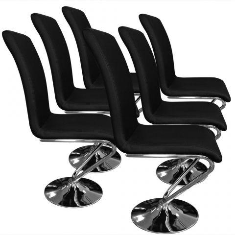 lot de 6 chaises design alto 99cm noir