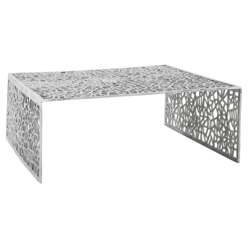 table basse alveole aluminium