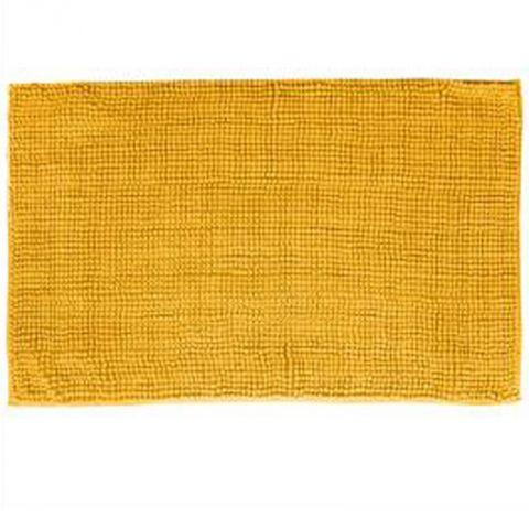 tapis de salle de bain chenille 50x80cm jaune