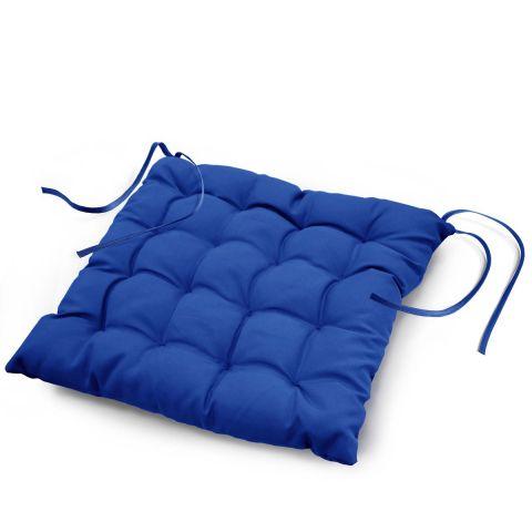 galette de chaise essentiel 40x40cm bleu indigo