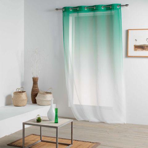 rideau voilage vitalia 140x260cm vert