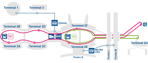 paris charles de gaulle airport - map of airport and paris airport transfers