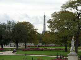 Famous gardens in Paris: Tuileries Gardens