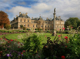 Luxembourg Gardens and Palace in Paris