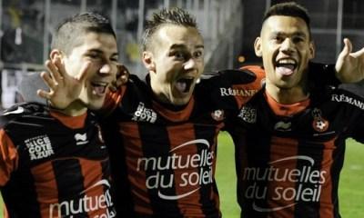 L1 : Nice bat Troyes et rejoint Lille au classement