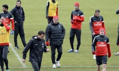 La neige perturbe l'entraînement du PSG
