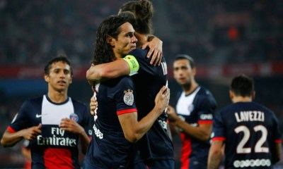 LDC - Discussion entre Blanc, Cavani, Ibrahimovic et Pastore