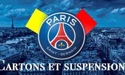 Cartons et Suspensions après PSG - Toulouse
