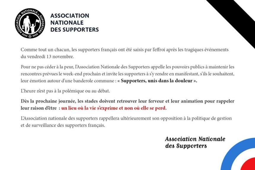 La LFP pense à reporter les matchs de ce weekend, l'ANS s'y oppose officiellement
