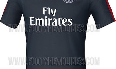 Le maillot d'entraînement du PSG pour la saison 2016-2017 dévoilé par Footyheadlines