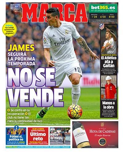 """Mercato - Marca """"James Rodriguez n'est pas à vendre"""""""