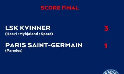 Féminines - Le PSG craque en fin de match et s'incline contre Kvinner en 16e de finale aller