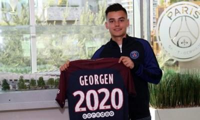 """Alec Georgen prolonge au PSG jusqu'en 2020 """"J'espère bien sûr me faire une palce"""""""
