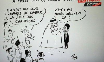 """L'Equipe se moque du PSG avec un dessin """"A Paris tout le monde s'exprime"""""""